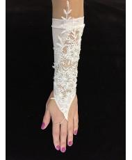 PR 042 Перчатки сеточка с кружевом без пальцев