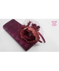 SH 398 Цветок шёлковый Марсала на ободке