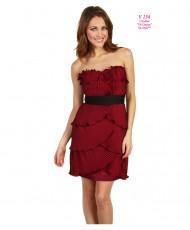 V 134 Вечернее платье бордового цвета 44р
