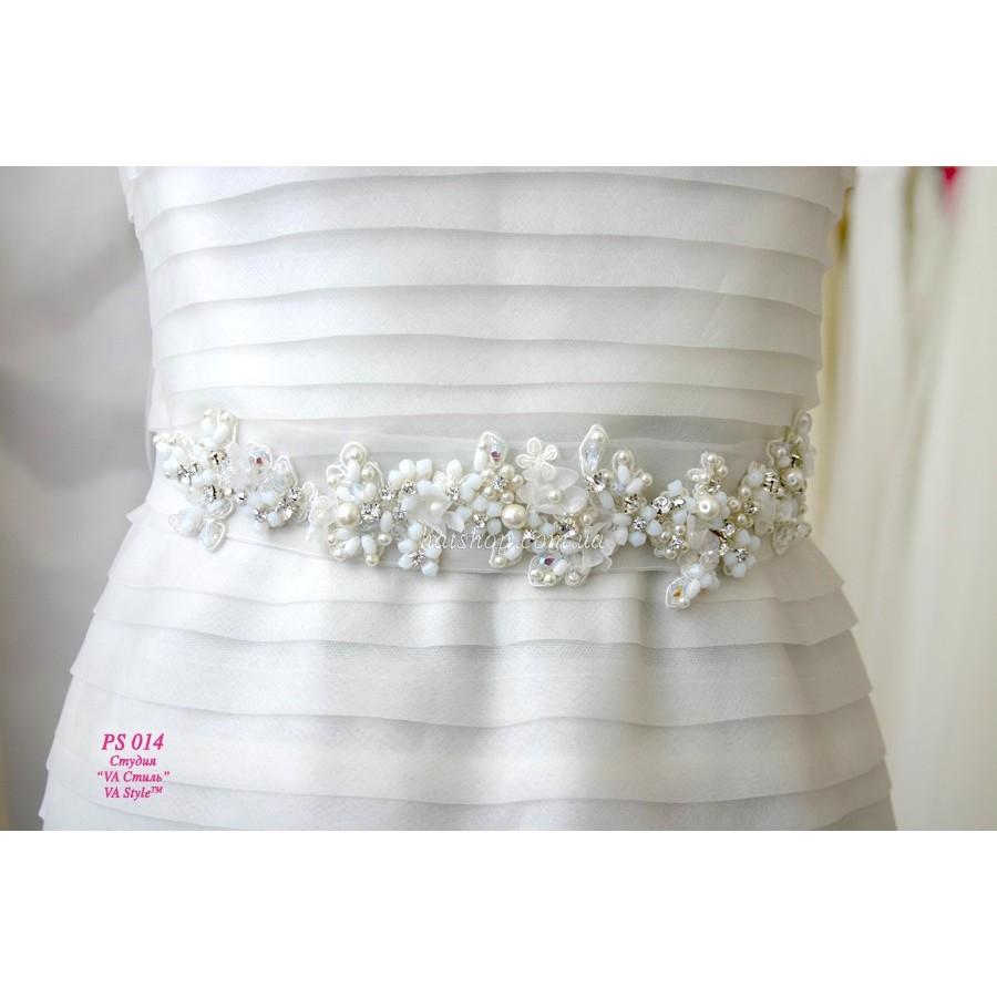 Пояс на свадебное платье с камнями своими руками 31