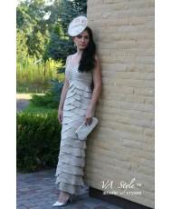 V 149 Вечернее платье с болеро бежевое