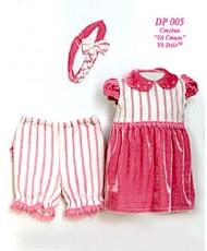 DP 005 Детский костюм платье, повязка и штанишки