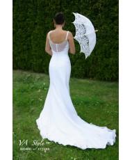 WD 055 Свадебное платье рыбка белое шифон