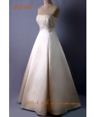 WD 012 Атласное свадебное платье капучино