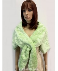 SHB 034 Накидка меховая нежно-зеленого цвета