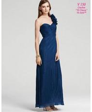 V 150 Вечернее платье из шифона синего цвета Aqua Dresses