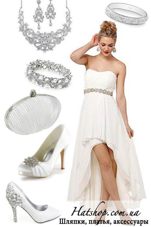 Выпускное платье молочное
