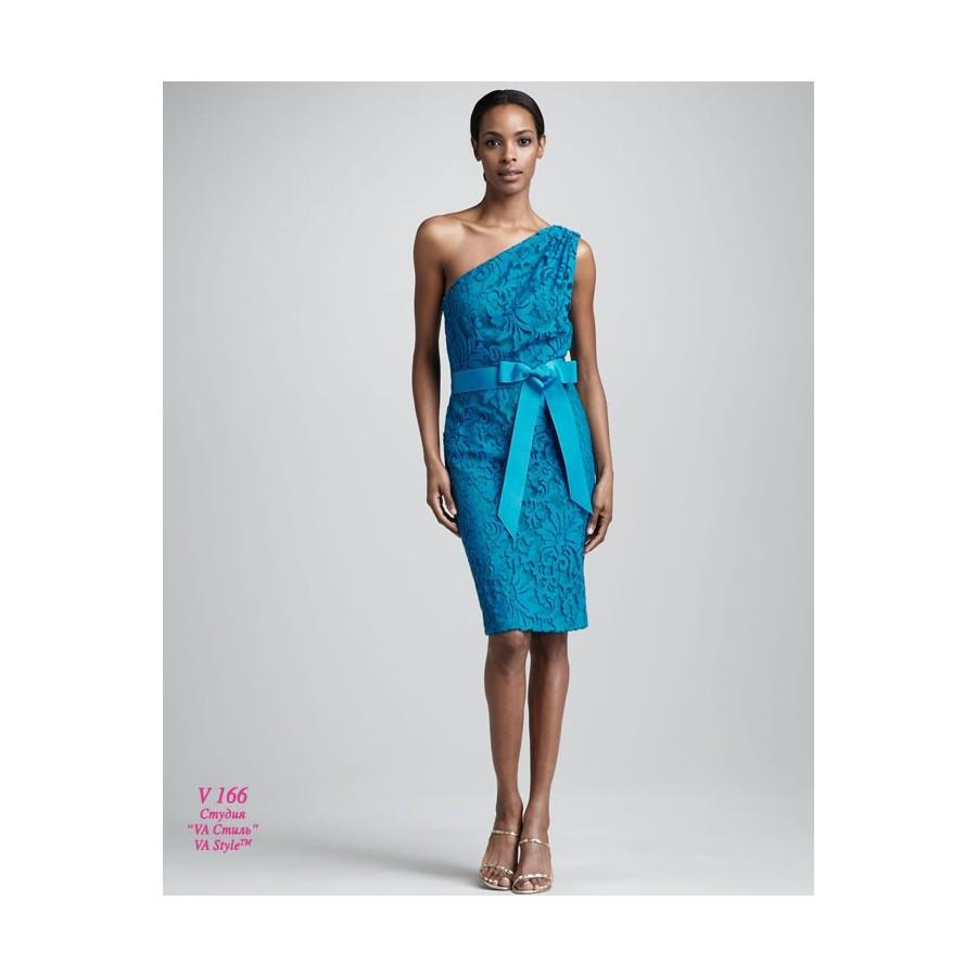 14786e41c37 V 166 Кружевное бирюзовое короткое платье 48р - Hatshop интернет ...