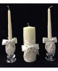 SV 013-1 Набор свечей в айвори для церемонии семейного очага