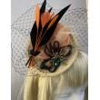 SH 472 Ободок-шляпка с перьями и брошью