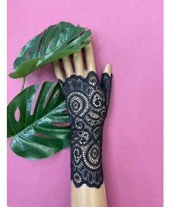 PR 139 Черные перчатки кружевные