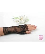 PR 137 Черные ажурные перчатки средние