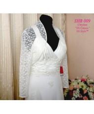 Болеро кружевное цвета айвори с длинным рукавом 44-46р SHB 009