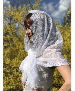 NK 024 Кружевной платок-мантилья