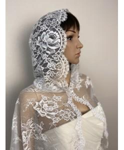 SHB 066 Венчальная накидка с капюшоном белая