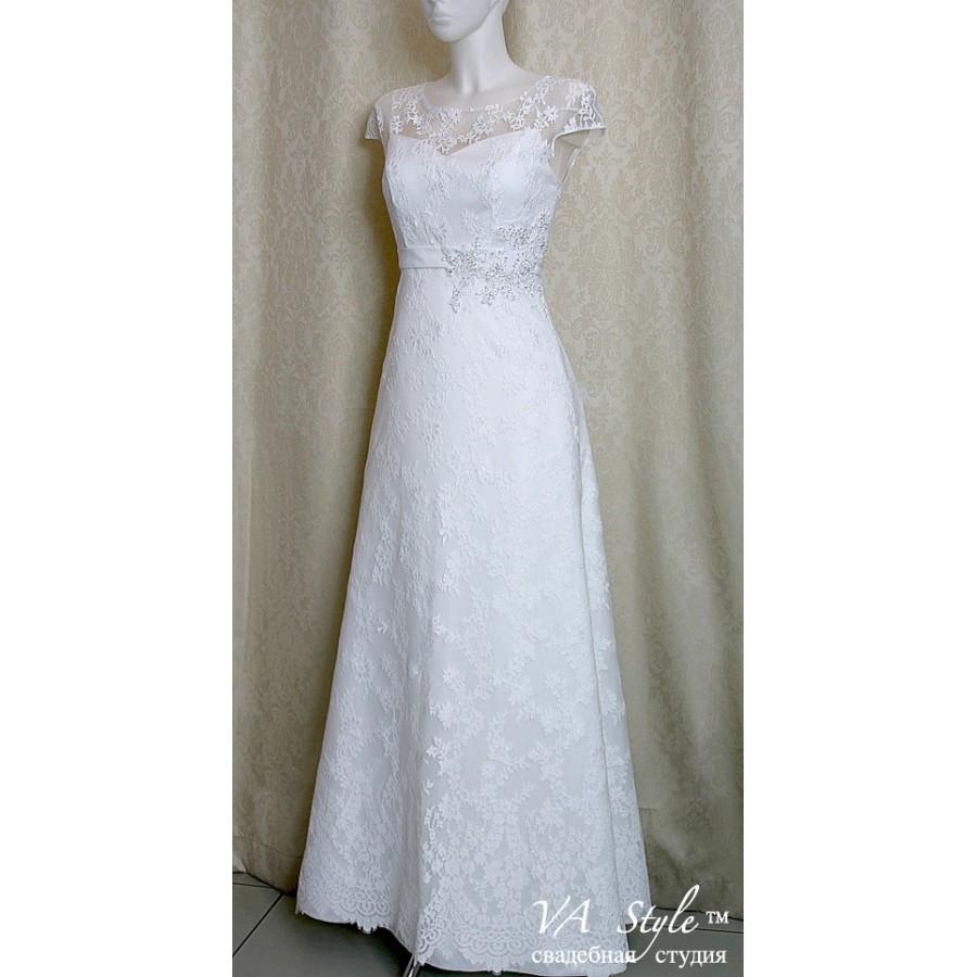 1c608208552 WD 150 Свадебное платье белое с рукавчиком кружево - Hatshop ...