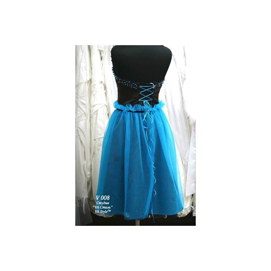 63b29d9e235 V 008 Платье бирюзовое с чёрным с расшитым поясом - Hatshop интернет ...