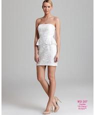 WD 207 Кружевное платье-футляр с баской