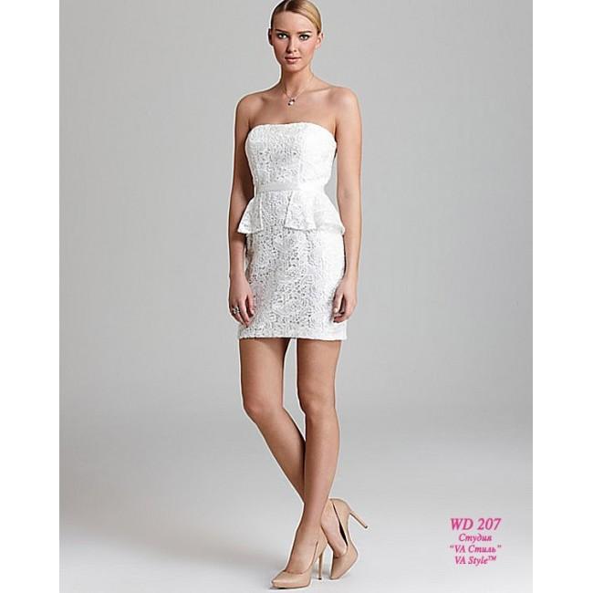 57367202ac9 WD 207 Кружевное платье-футляр с баской - Hatshop интернет магазин ...