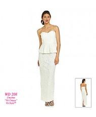WD 208 Платье длинное кружевное с баской
