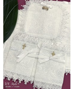 PL 067 Набор венчальный лён крестик вышивка