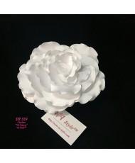 Роза белая атласная SH 329