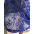 SHB 086-blue Яркий синий капор-хомут кружевной