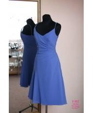V 002 Платье на бретелях василькового цвета