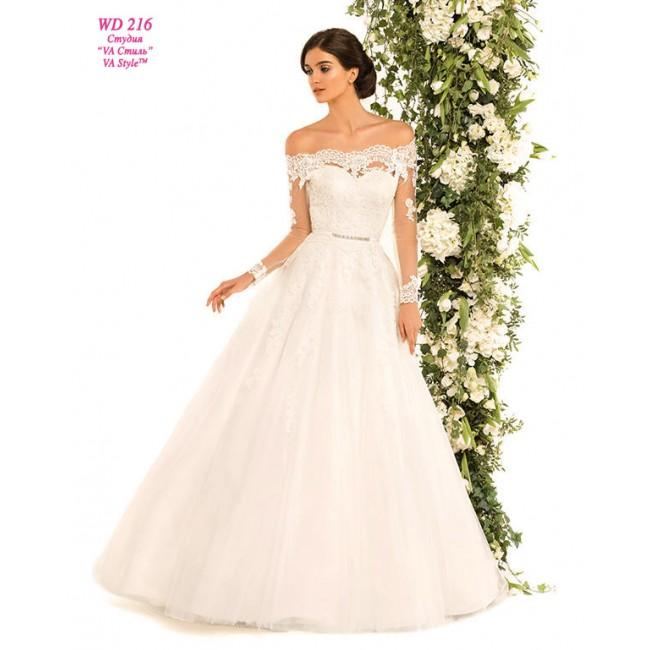 c0cf6672532 WD 216 Свадебное платье со спущенным рукавом. https   www.hatshop .com.ua 1717-8631-