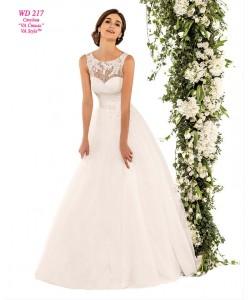 WD 217 Свадебное платье с закрытым кружевным верхом