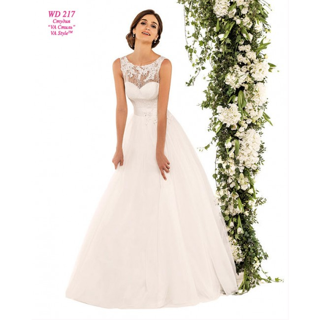 73a5eeb3512 WD 217 Свадебное платье с закрытым кружевным верхом. https   www.hatshop .com.ua 1719-8629-