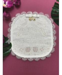 PL 091 Салфетка под кольца белая с вышивкой