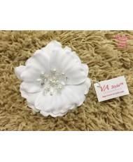 SH 516-w Цветок атласный в белом цвете