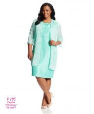 V 185 Платье и жакет мятного цвета