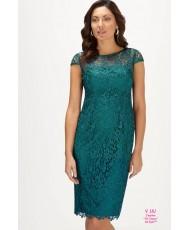 V 181 Платье кружевное изумрудного цвета 52-54р