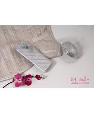S 029-silver Атласный клатч серебристого цвета
