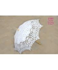 Свадебный кружевной зонт белого цвета Z 005