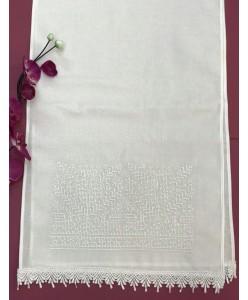 RU 067-1 Рушник белый с вышивкой крестик
