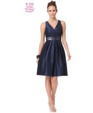 V 133 Платье тёмно-синее 50-52р
