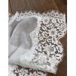 NK 075 Шаль-шарф хлопок с шантилье
