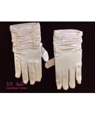 DPR 011 Перчатки атласные с пальчиками бледно-розовые