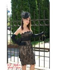 Кружевное коктейльное платье V 093