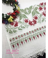 RU 007-1 Рушник белый свадебный льняной