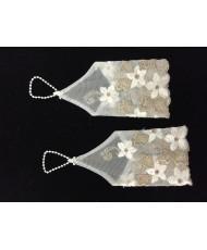 DPR 019 Детские перчатки сеточка с бежевым