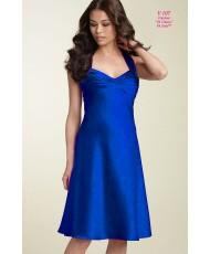 Коктейльное платье синего цвета р 44 V 107