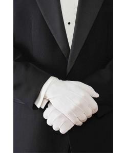 MPR 001 Мужские короткие белые перчатки