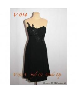 Платье черного цвета V 014