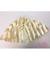 SHB 114 Накидка-шубка детская кремовая