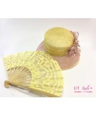 VR 003-lime Кружевной веер цвет лимонный