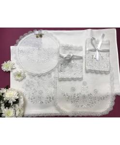 PL 058-01 Венчальный набор льняной вышитый